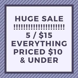 ⚠️ 5 items for $15 sale !!!